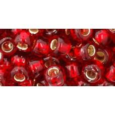 Круглый бисер ТОХО 3/0 Silver-Lined Ruby (25C) - 250гр