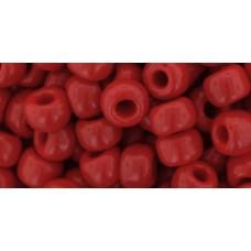 Круглый бисер ТОХО 3/0 Opaque Pepper Red (45) - 250гр