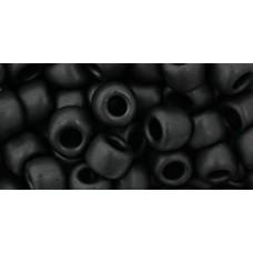 Круглый бисер ТОХО 3/0 Opaque-Frosted Jet (49F) - 250гр