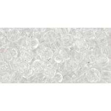 Круглый бисер ТОХО 6/0 Transparent Crystal (1) - 250гр