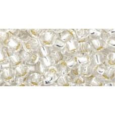 Круглый бисер ТОХО 6/0 Silver-Lined Crystal (21) - 250гр