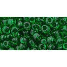 Круглый бисер ТОХО 6/0 Transparent Grass Green (7B) - 250гр