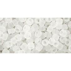 Круглый бисер ТОХО 8/0 Transparent-Frosted Crystal (1F) - 250гр