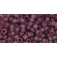 Круглый бисер ТОХО 8/0 Transparent-Frosted Med Amethyst (6BF) - 250гр