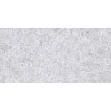 Круглый бисер ТОХО 11/0 Transparent Crystal (1) - 250гр