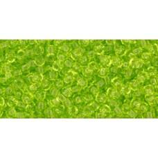 Круглый бисер ТОХО 11/0 Transparent Lime Green (4) - 250гр