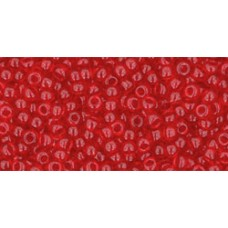 Круглый бисер ТОХО 11/0 Transparent Siam Ruby (5B) - 250гр