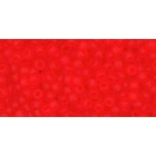 Круглый бисер ТОХО 11/0 Transparent-Frosted Lt Siam Ruby (5F) - 250гр
