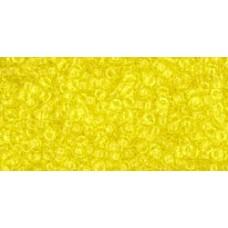 Круглый бисер ТОХО 15/0 Transparent Lemon (12) - 100гр