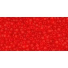 Круглый бисер ТОХО 15/0 Transparent-Frosted Siam Ruby (5BF) - 100гр