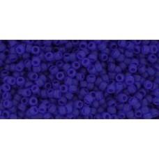 Круглый бисер ТОХО 15/0 Transparent-Frosted Dk Sapphire (8F) - 100гр