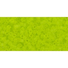 Бисер Трежерес ТОХО 11/0 Transparent Frosted Lime Green (4F) - 100гр