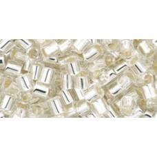 Бисер Трежерес ТОХО 8/0 Silver-Lined Crystal (21) - 100гр