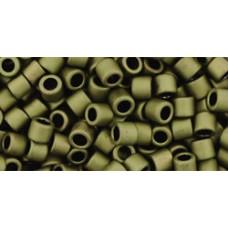 Бисер Трежерес ТОХО 8/0 Matte-Color Dk Olive (617) - 100гр