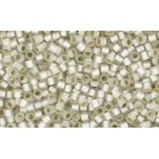 Круглый Бисер Такуми ТОХО 9/0 Silver-Lined Frosted Crystal (21F) - 250гр
