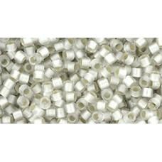 Круглый бисер Такуми ТОХО 11/0 Silver-Lined Frosted Crystal (11-21F) - 250гр