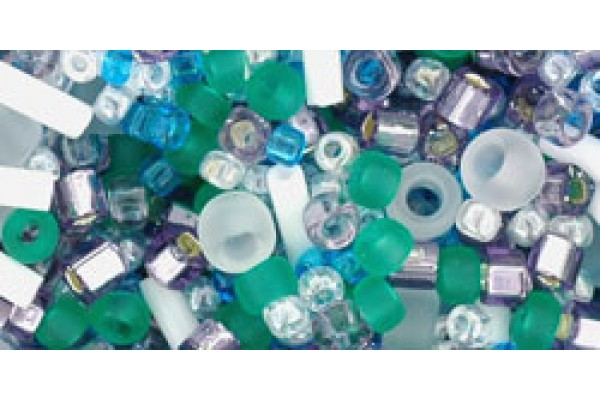 БисерTohoМИКСFujiБелый/Зеленый/Голубой/Фиолетовый(TX-01-3229)